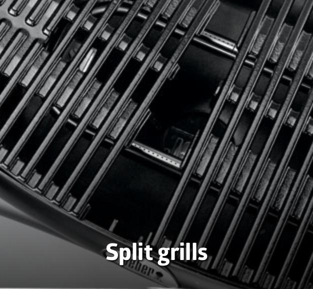 weber split grills