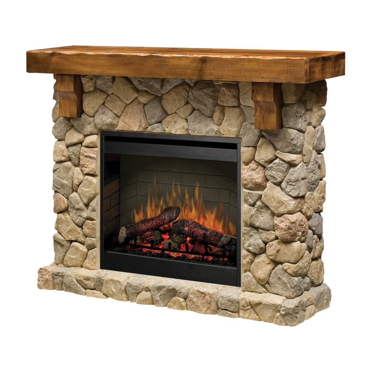 Dimplex Fieldstone 2kw Electraflame 26 Inch Electric Fireplace With Mantel Glendale Warehouse