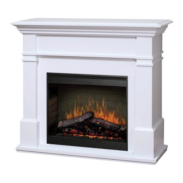 dimplex kenton white 26 inch electric fireplace with mantel glendale warehouse. Black Bedroom Furniture Sets. Home Design Ideas